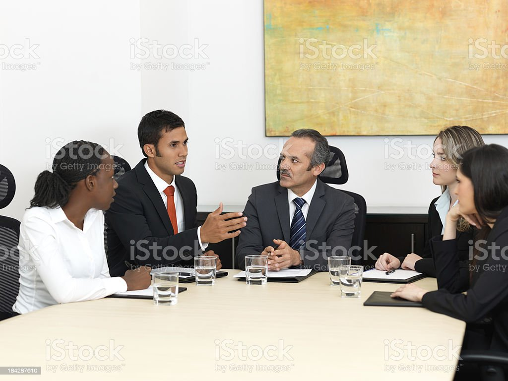 Business people talking in the office royalty-free stock photo