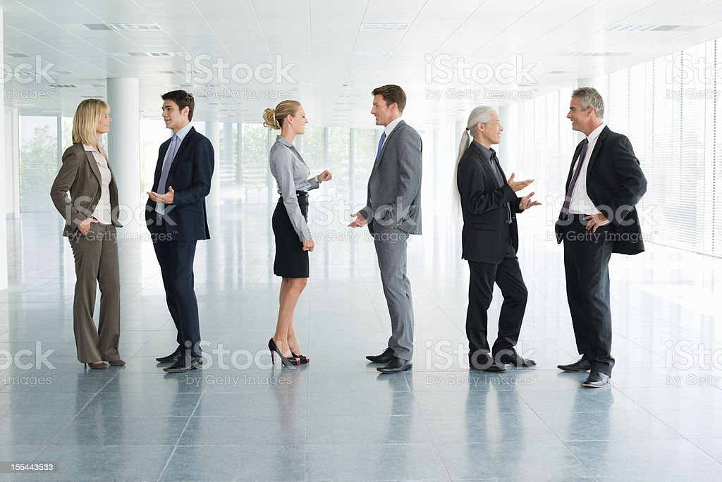 Business People Talking royalty-free stock photo