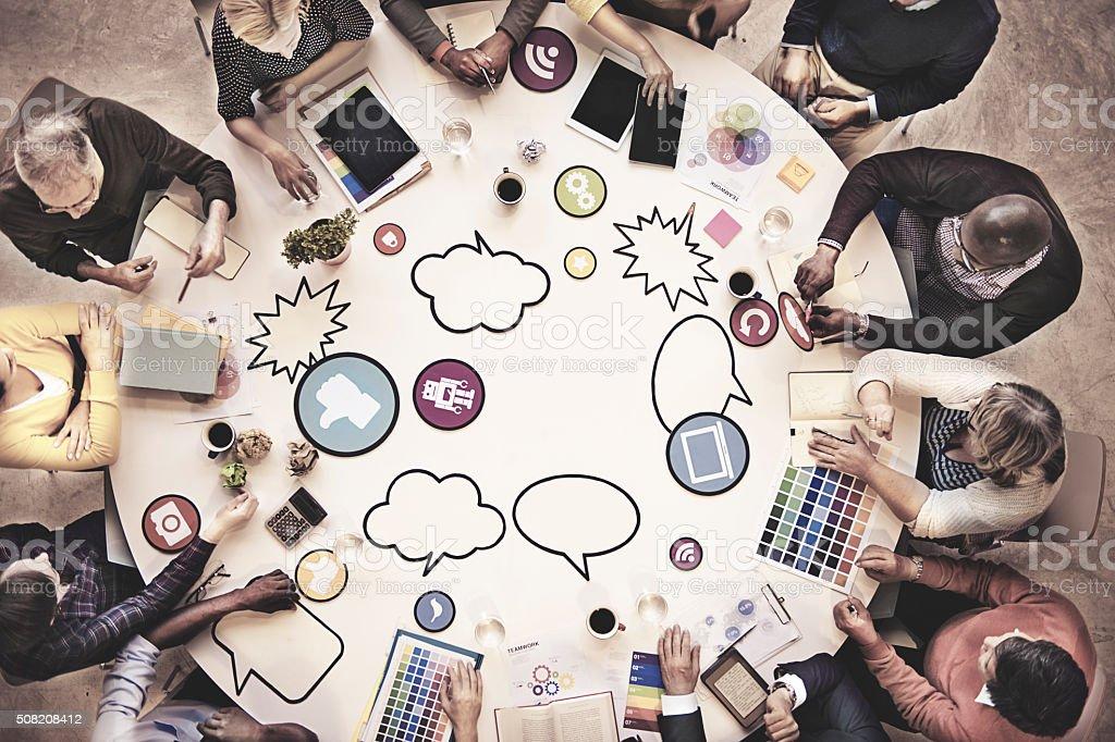 Business People Team Teamwork Working Meeting Concept