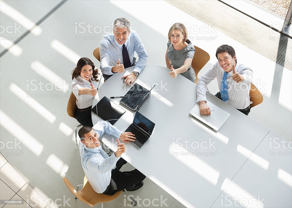 Business People Thumbs Up royalty-free stock photo
