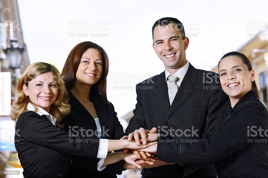 Business people together. royalty-free stock photo