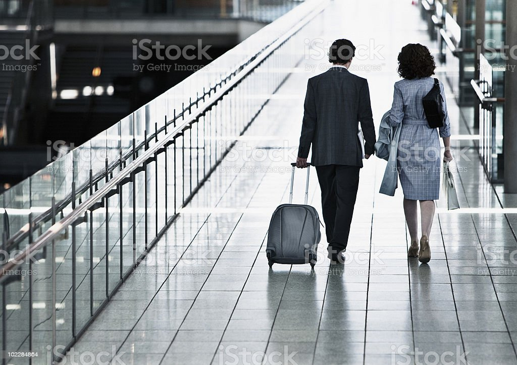 Business people traveling together royalty-free stock photo