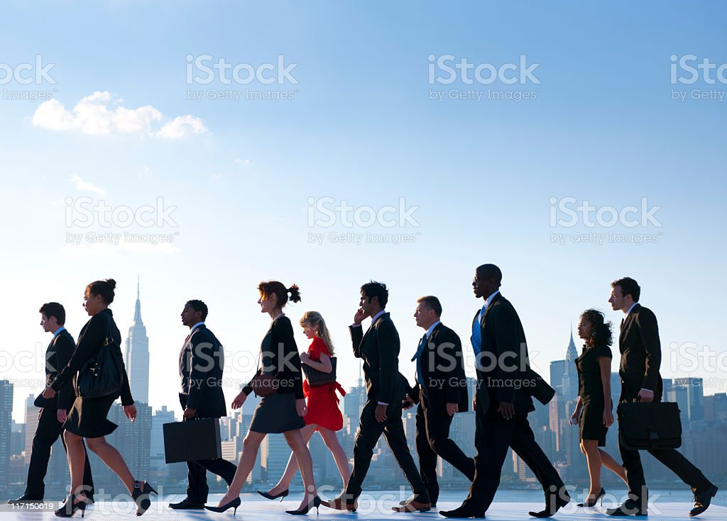 Business People travelling to work in the City royalty-free stock photo