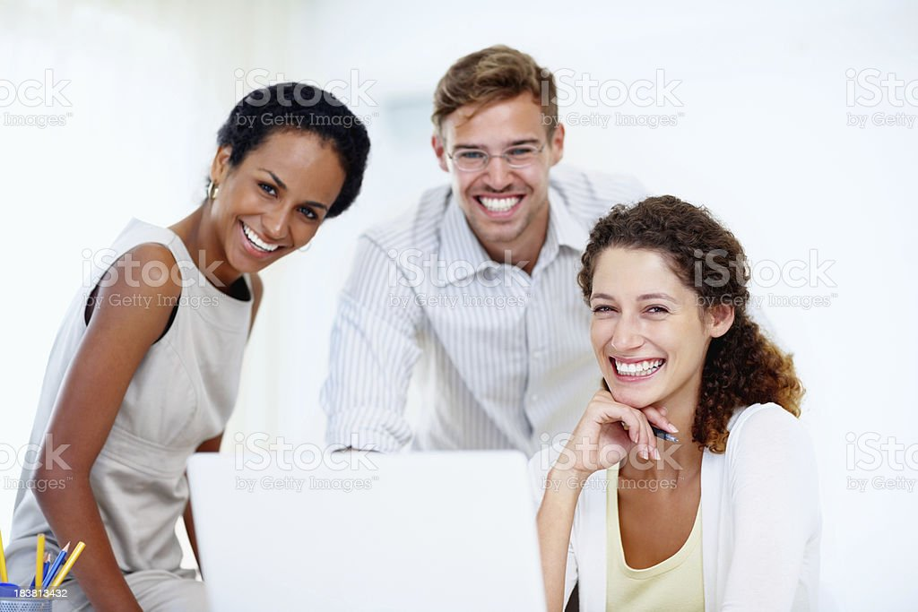 Business people using a laptop royalty-free stock photo