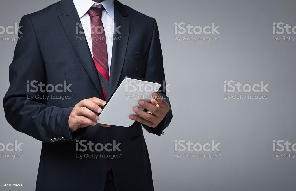 Business People Using digital tablet stock photo