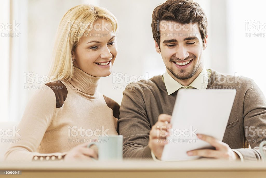 Business people using digital tablet. royalty-free stock photo