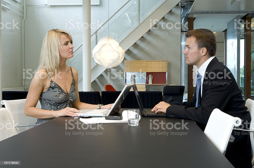 business people using laptops royalty-free stock photo