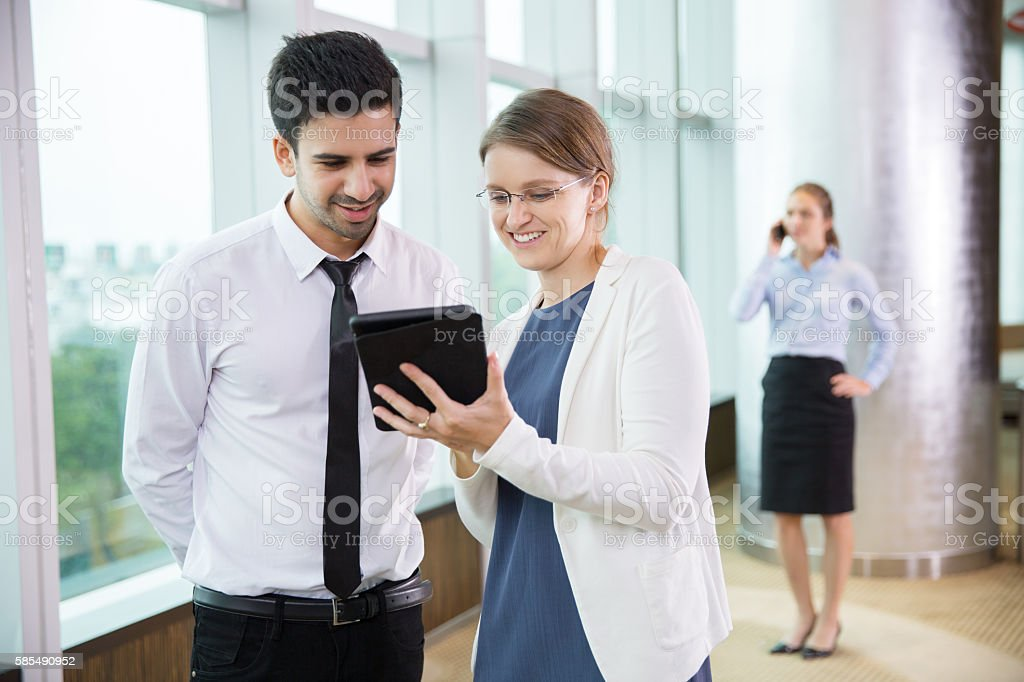 Business People Using Tablet 2 stock photo