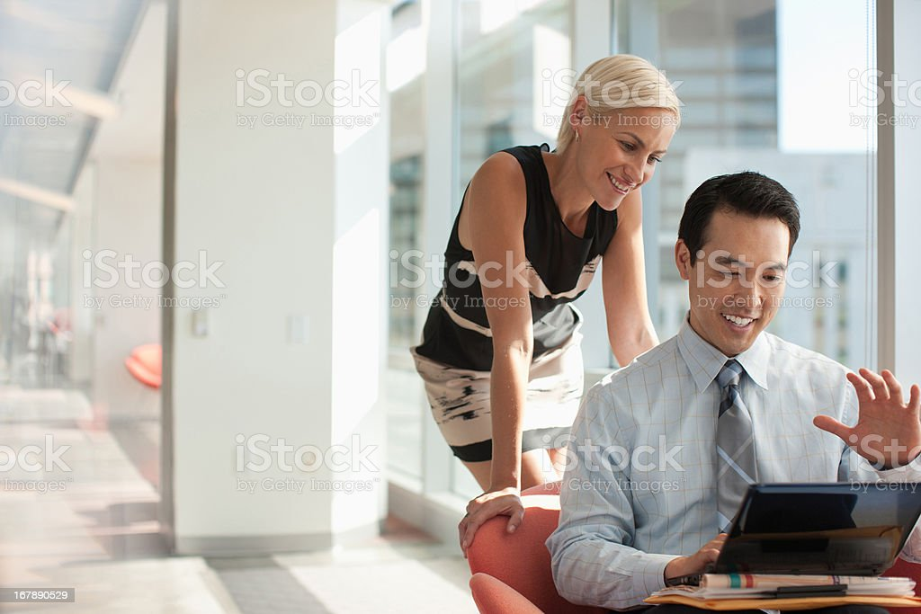 Business people using tablet computer in office royalty-free stock photo