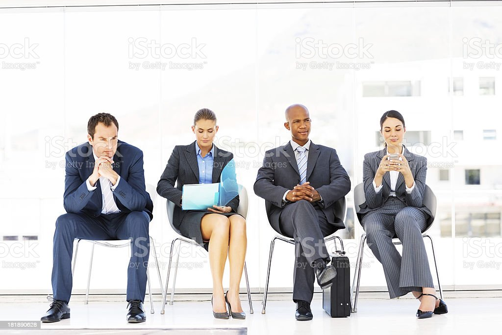 Business People Waiting For An Interview royalty-free stock photo