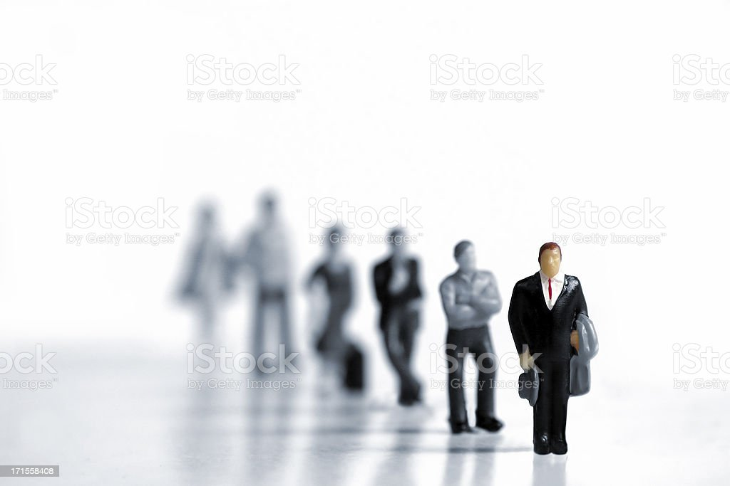 Business People Waiting in Line royalty-free stock photo