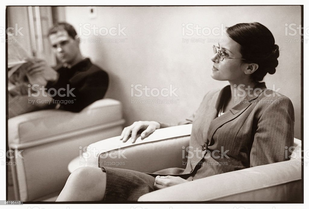 Business people waiting royalty-free stock photo
