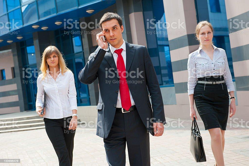 Business people walking i royalty-free stock photo