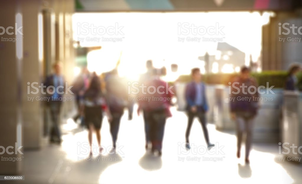 Business people walking in the City, London stock photo