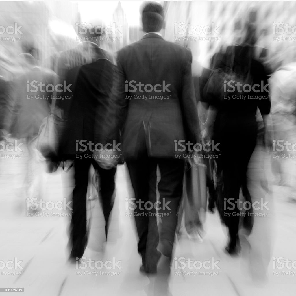 Business people walking, motion blur royalty-free stock photo