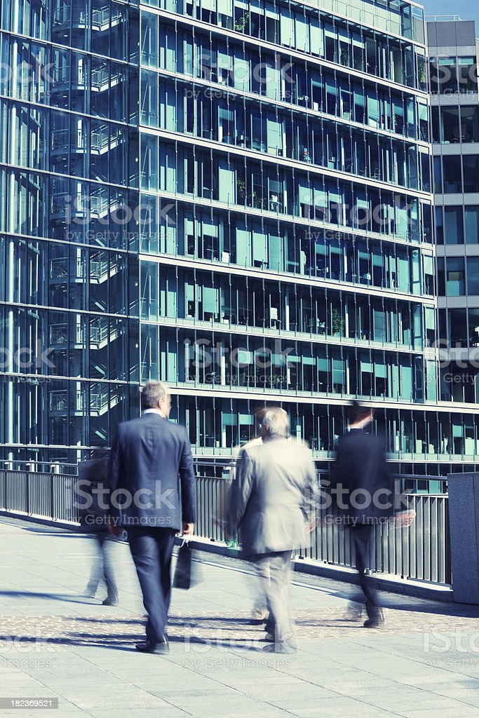 Business People Walking to Appointment royalty-free stock photo