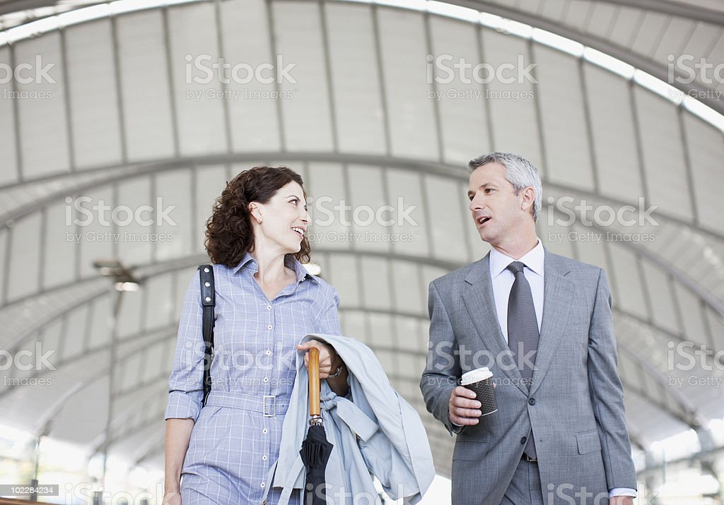Business people walking together royalty-free stock photo