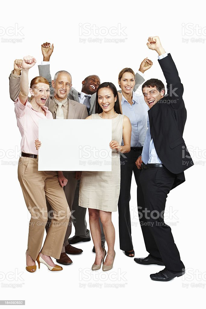 Business people with blank sheet royalty-free stock photo