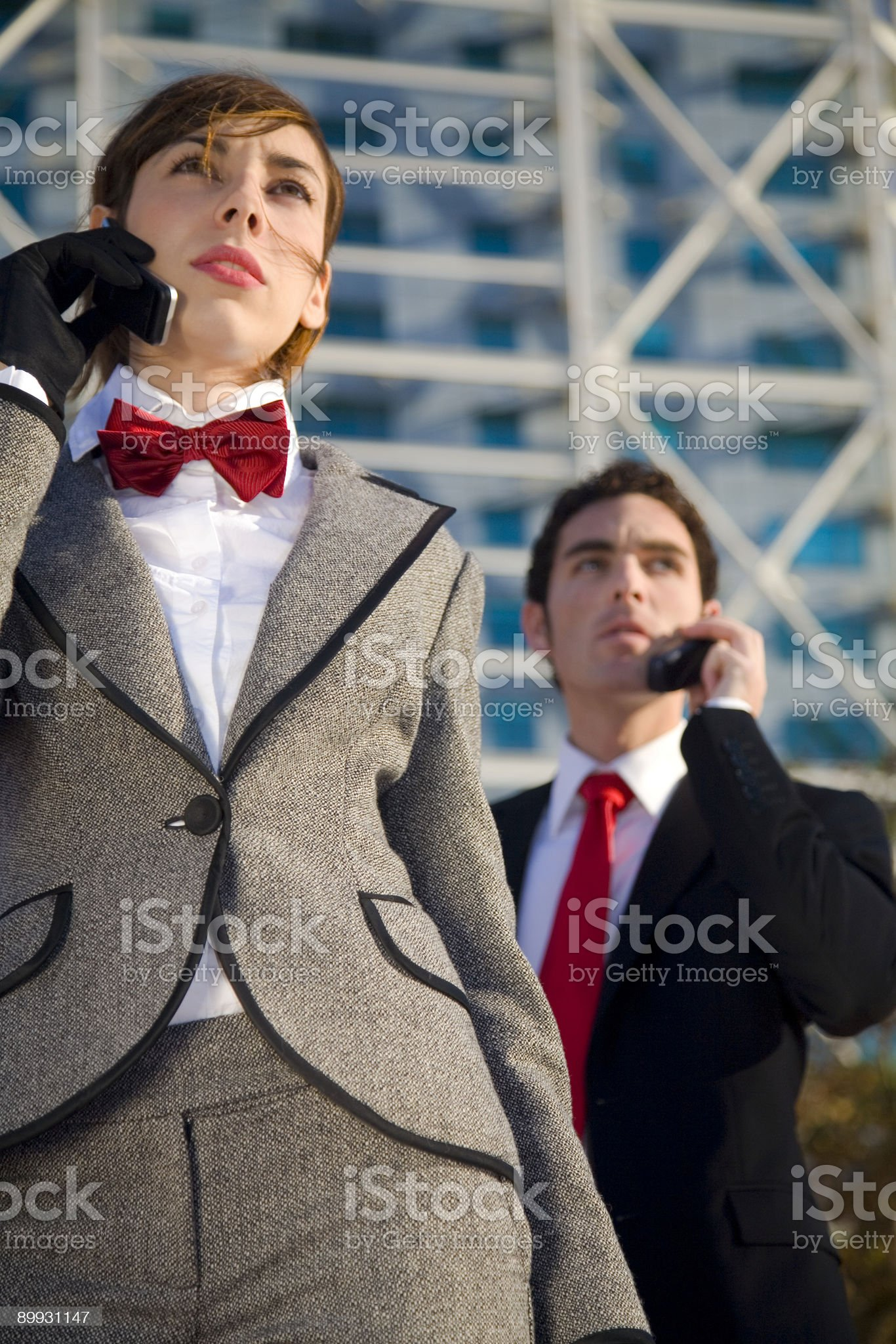 Business people with cell phones royalty-free stock photo
