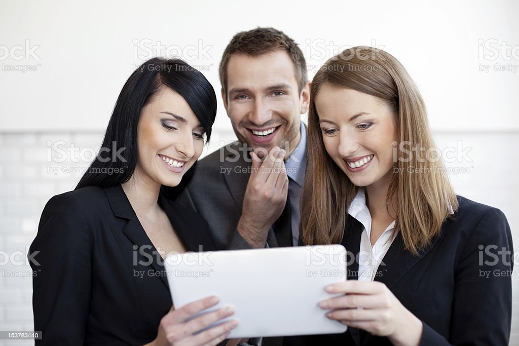 Business people with digital tablet royalty-free stock photo