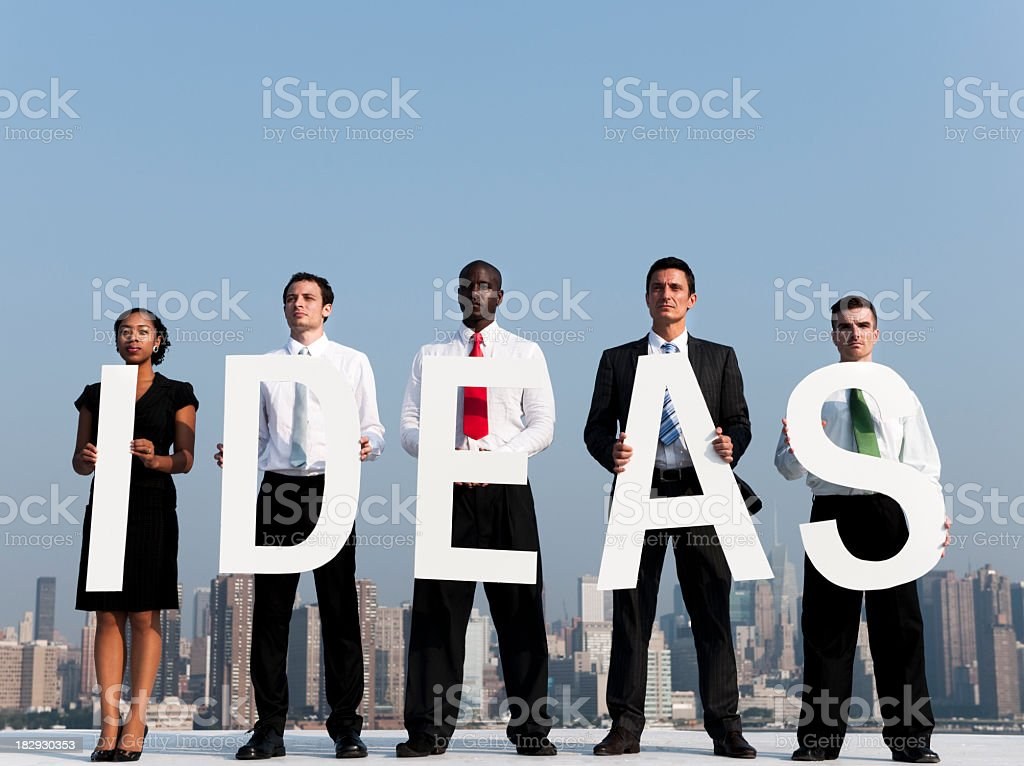 Business People with Ideas in the City royalty-free stock photo