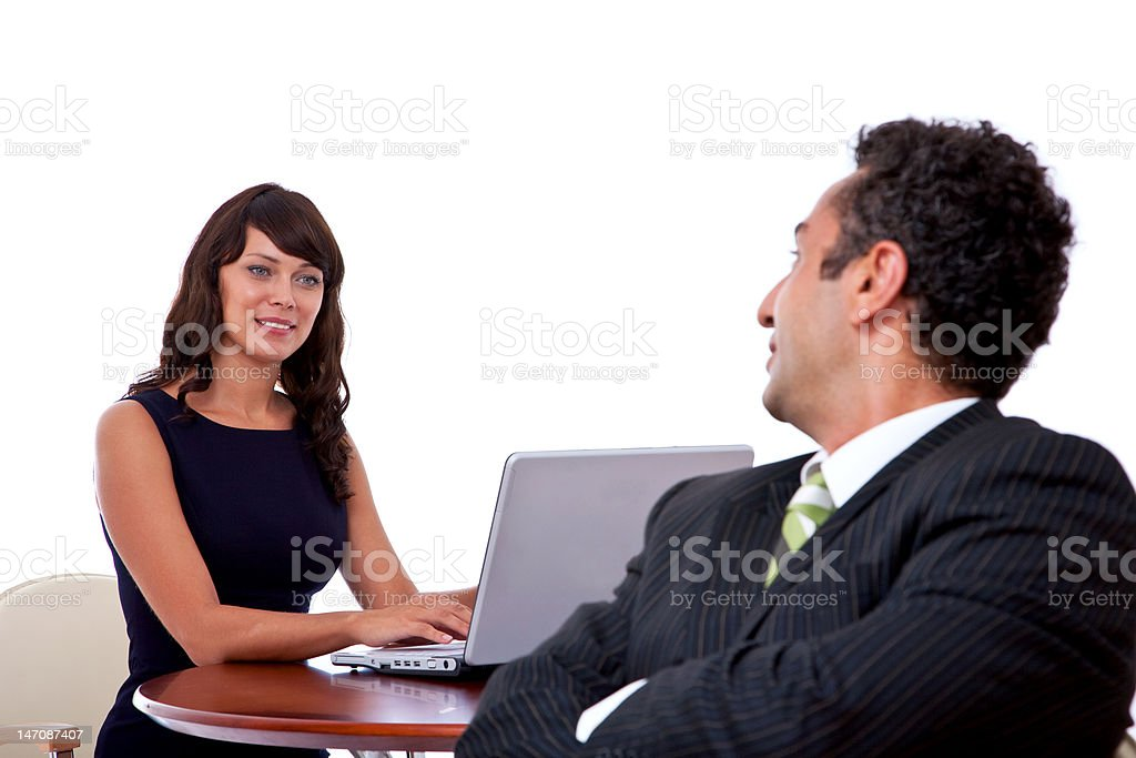 business people with laptop royalty-free stock photo