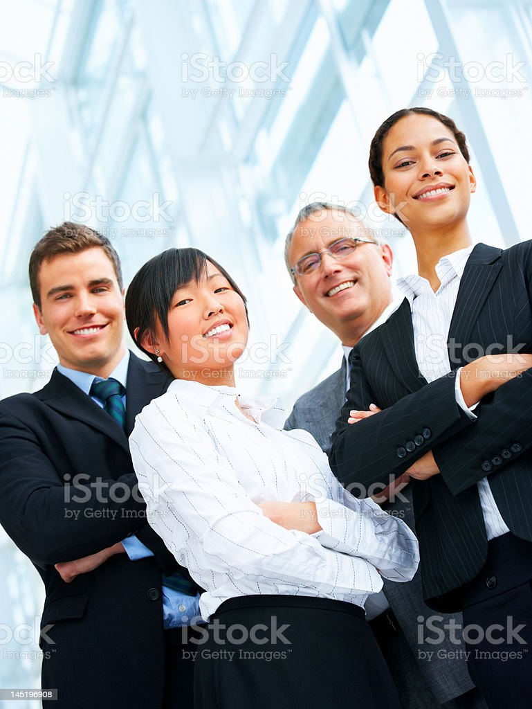 Business people with their arms crossed royalty-free stock photo