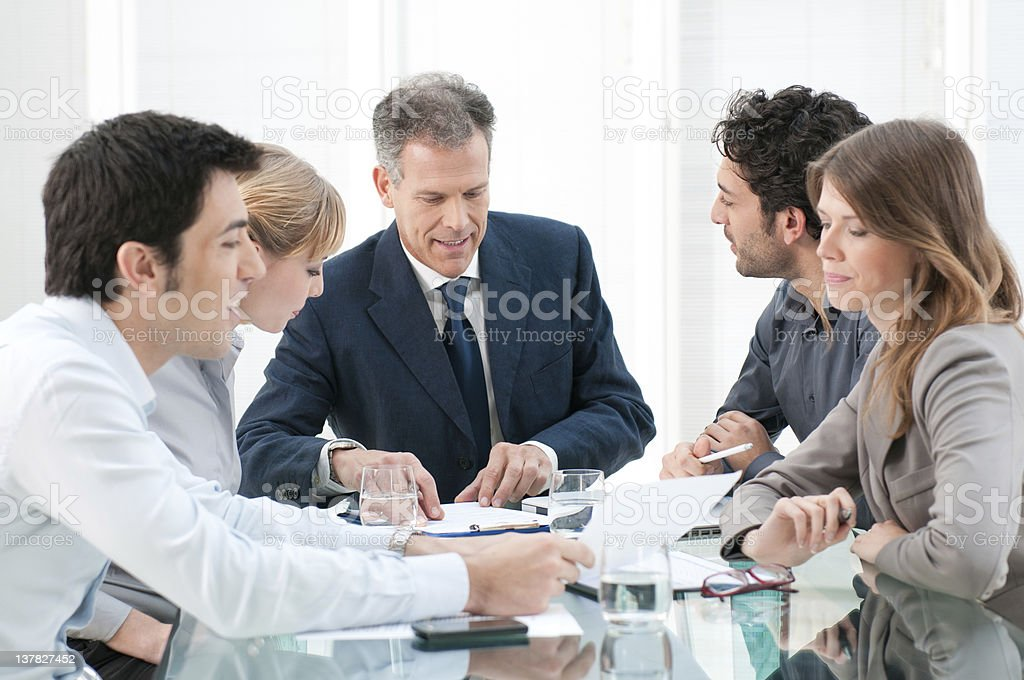 Business people work in group royalty-free stock photo