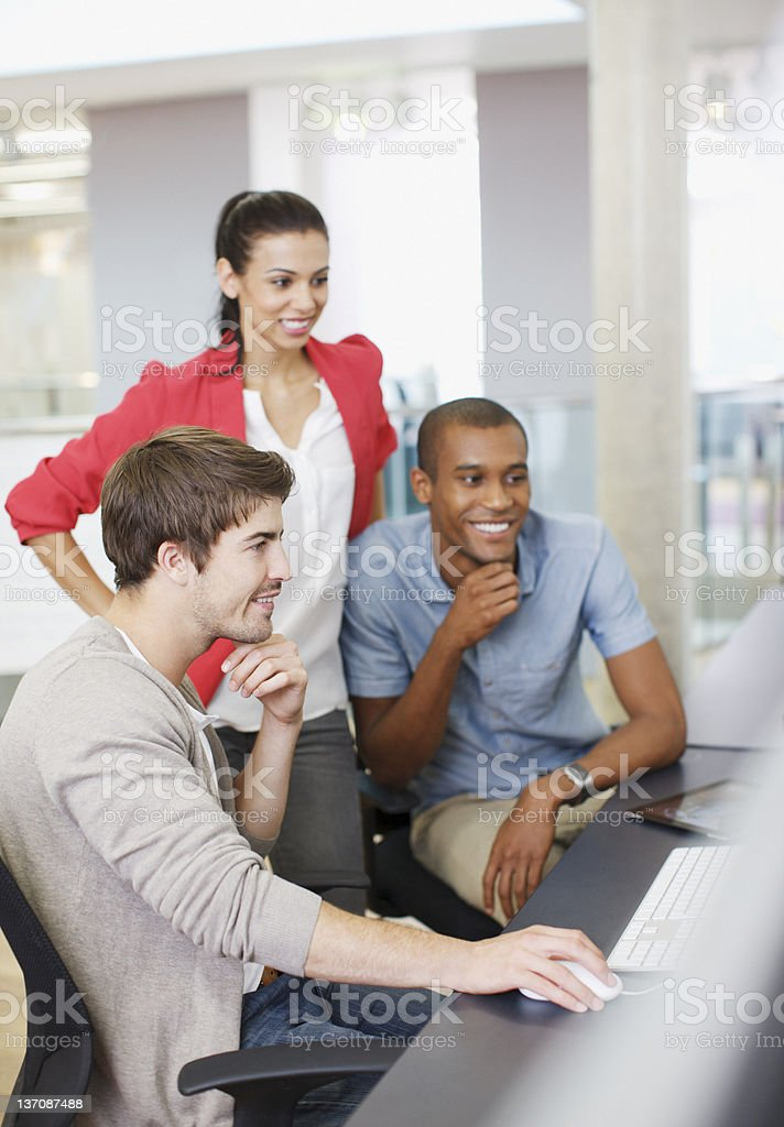 Business people working at computer in office royalty-free stock photo