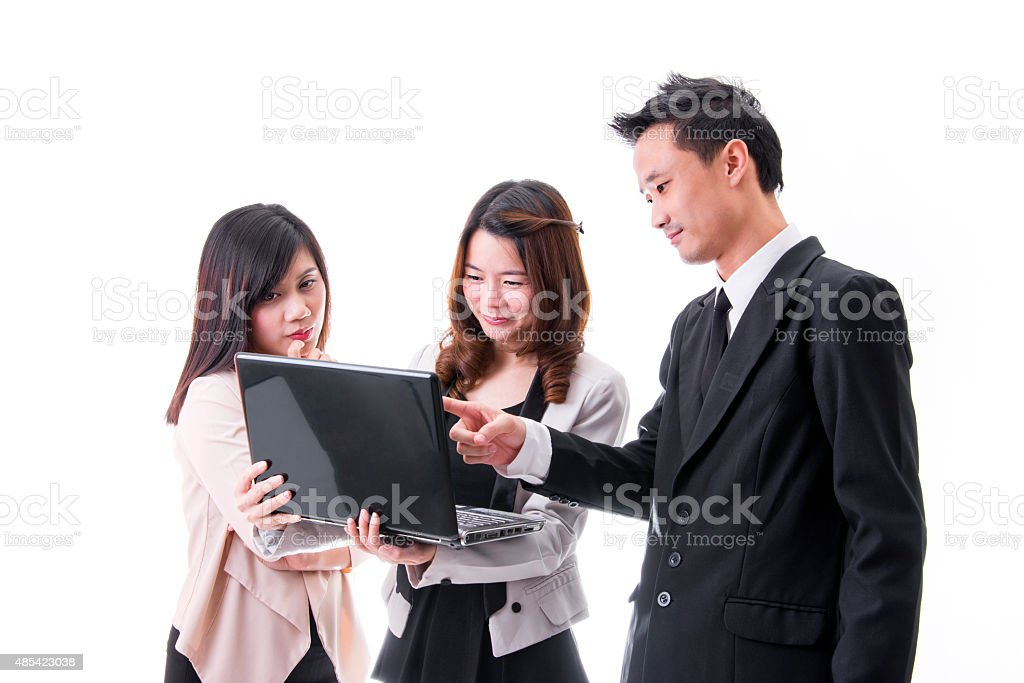 Business People Working At Meeting royalty-free stock photo