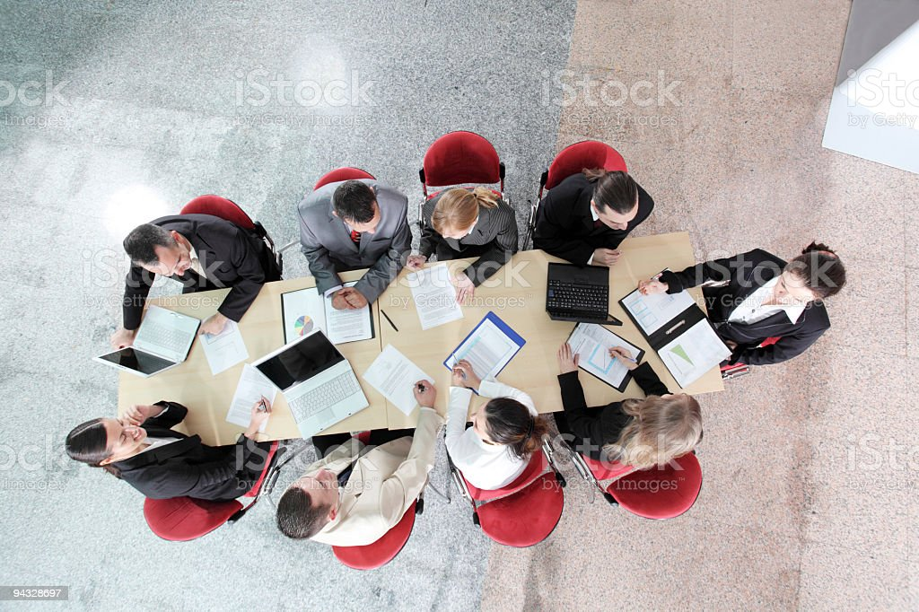 Business people working at meeting. royalty-free stock photo