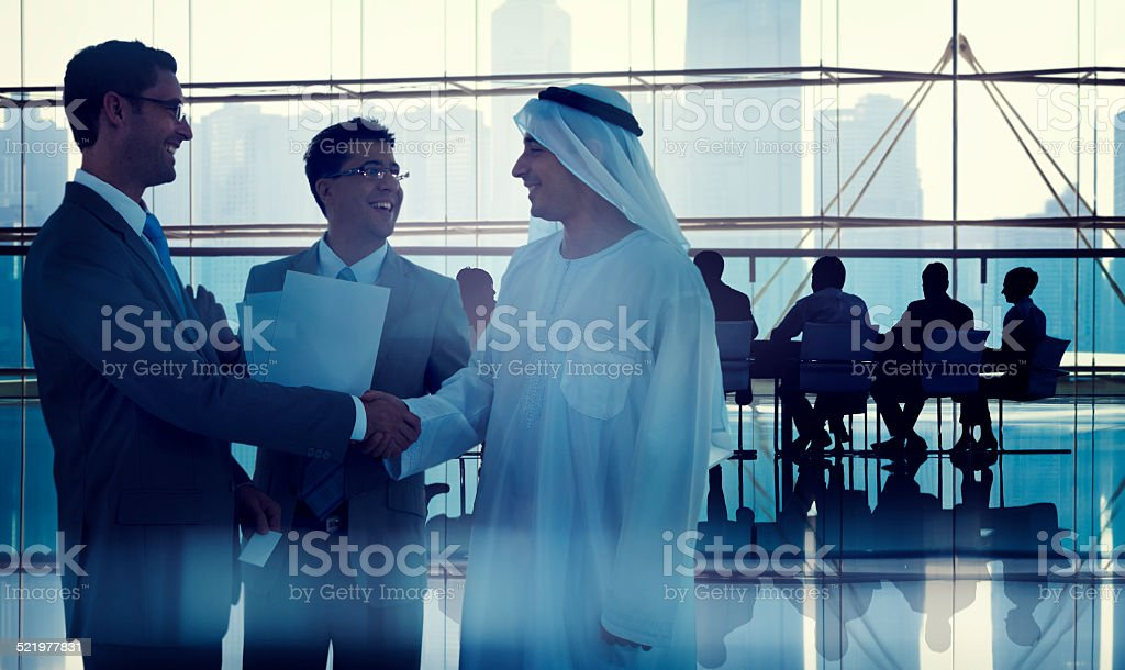 Business People Working in a Board Room stock photo