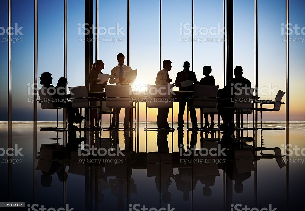 Business People Working In A Conference Room stock photo