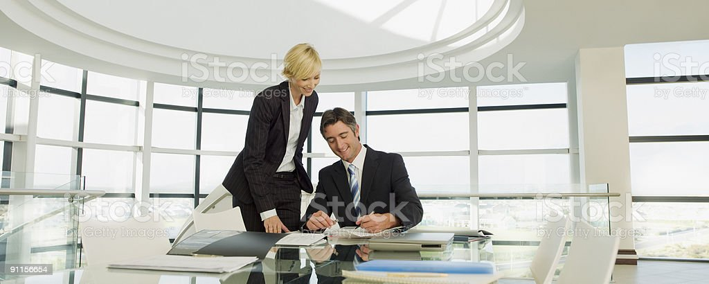 Business people working in modern office stock photo