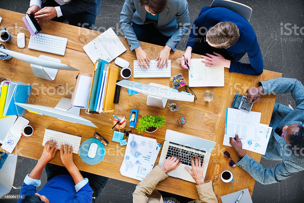 Business People Working Office Corporate Team Concept stock photo