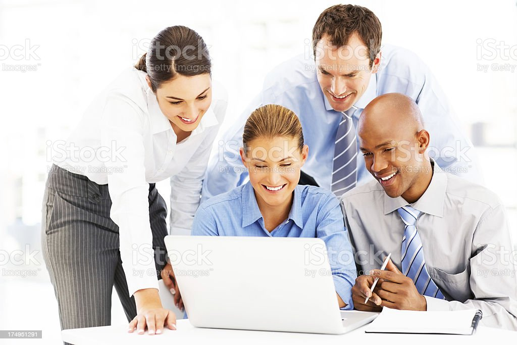 Business People Working On Laptop royalty-free stock photo