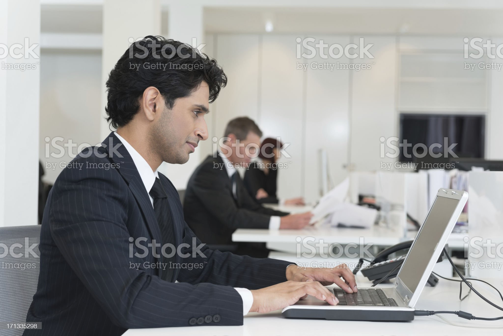 Business People Working On Laptops royalty-free stock photo