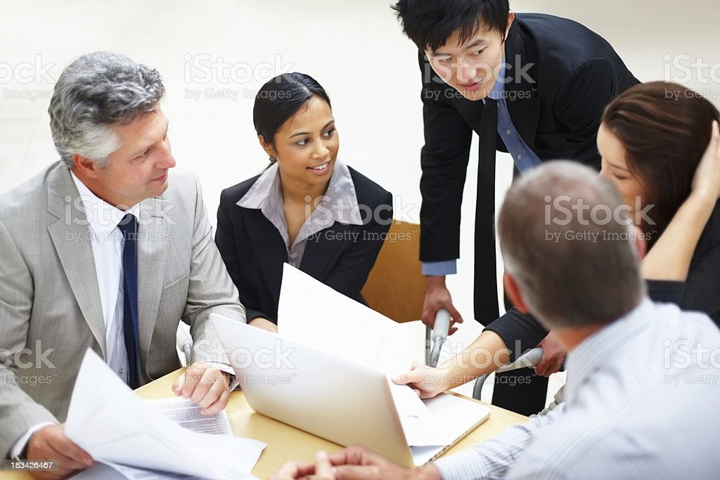 Business people working on new project royalty-free stock photo