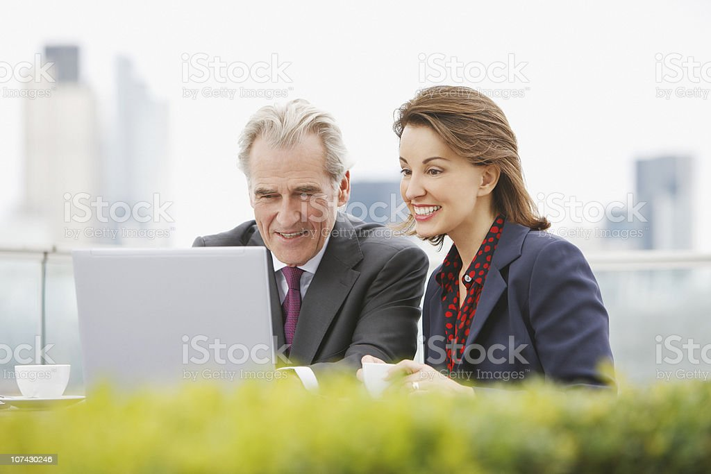 Business people working outdoors royalty-free stock photo