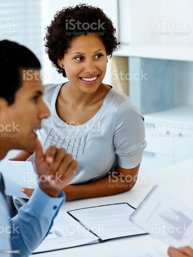 Business people working together as a team royalty-free stock photo