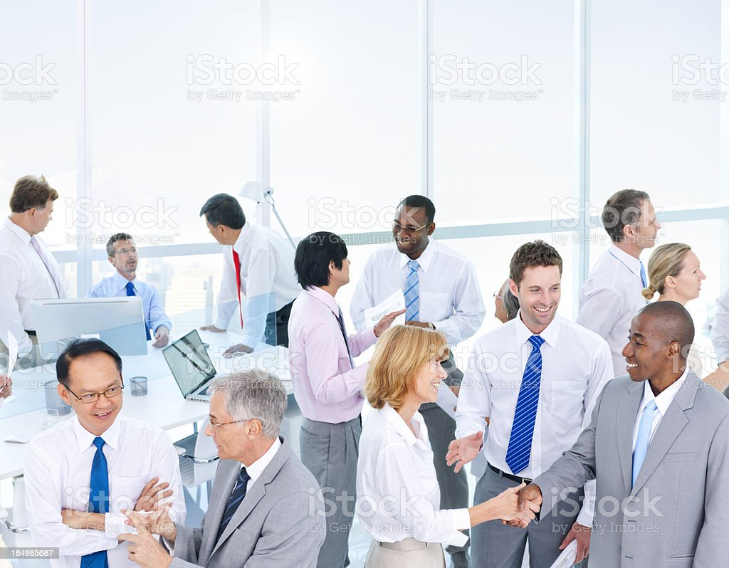 Business people working together in an office royalty-free stock photo