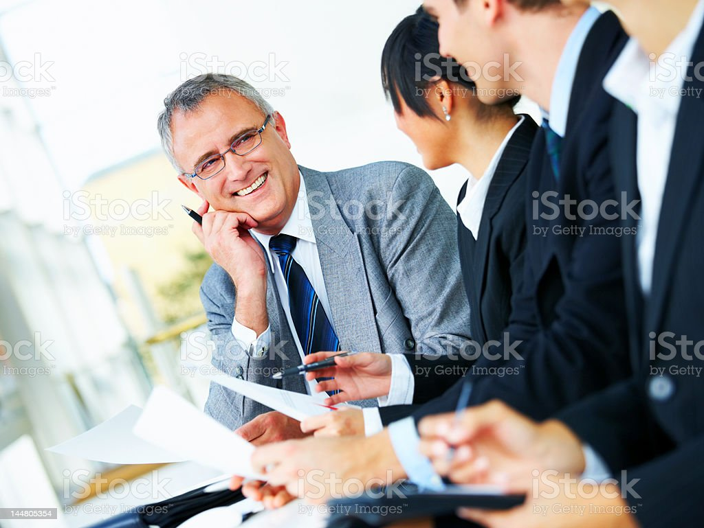 Business people working together in the office royalty-free stock photo