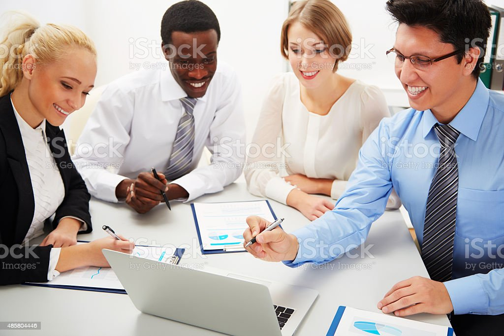 Business people working together. stock photo