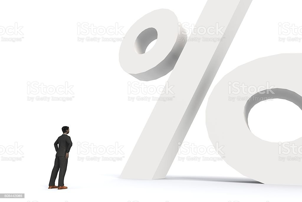 Business percentage royalty-free stock photo