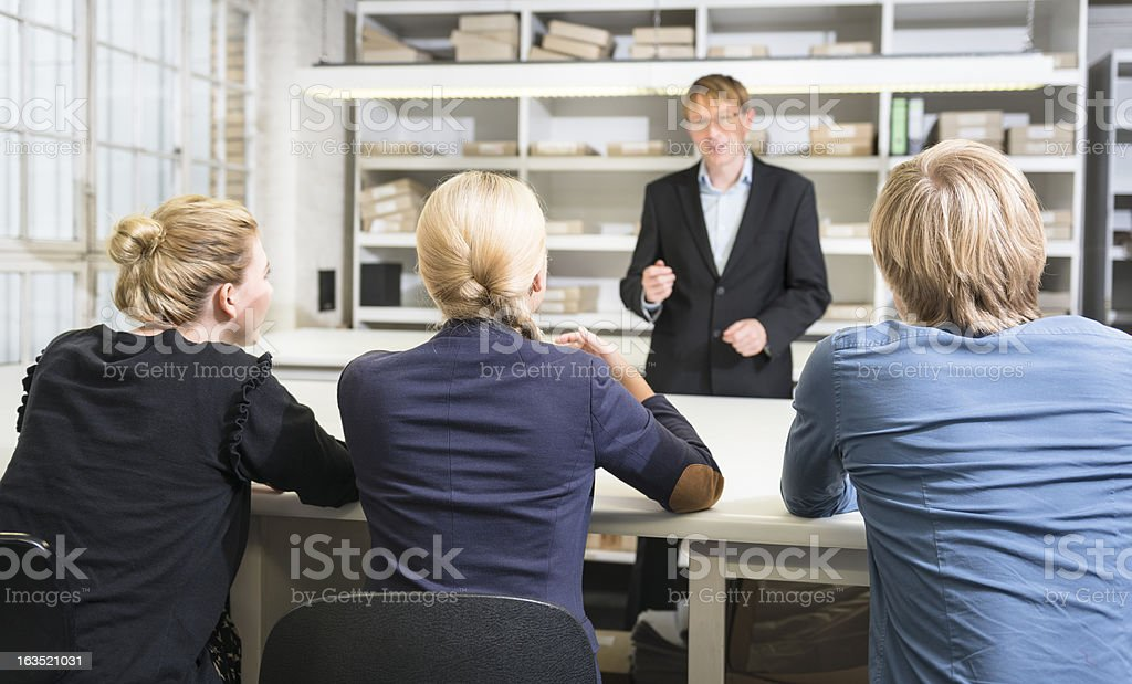Business person at the last presentation applauding royalty-free stock photo