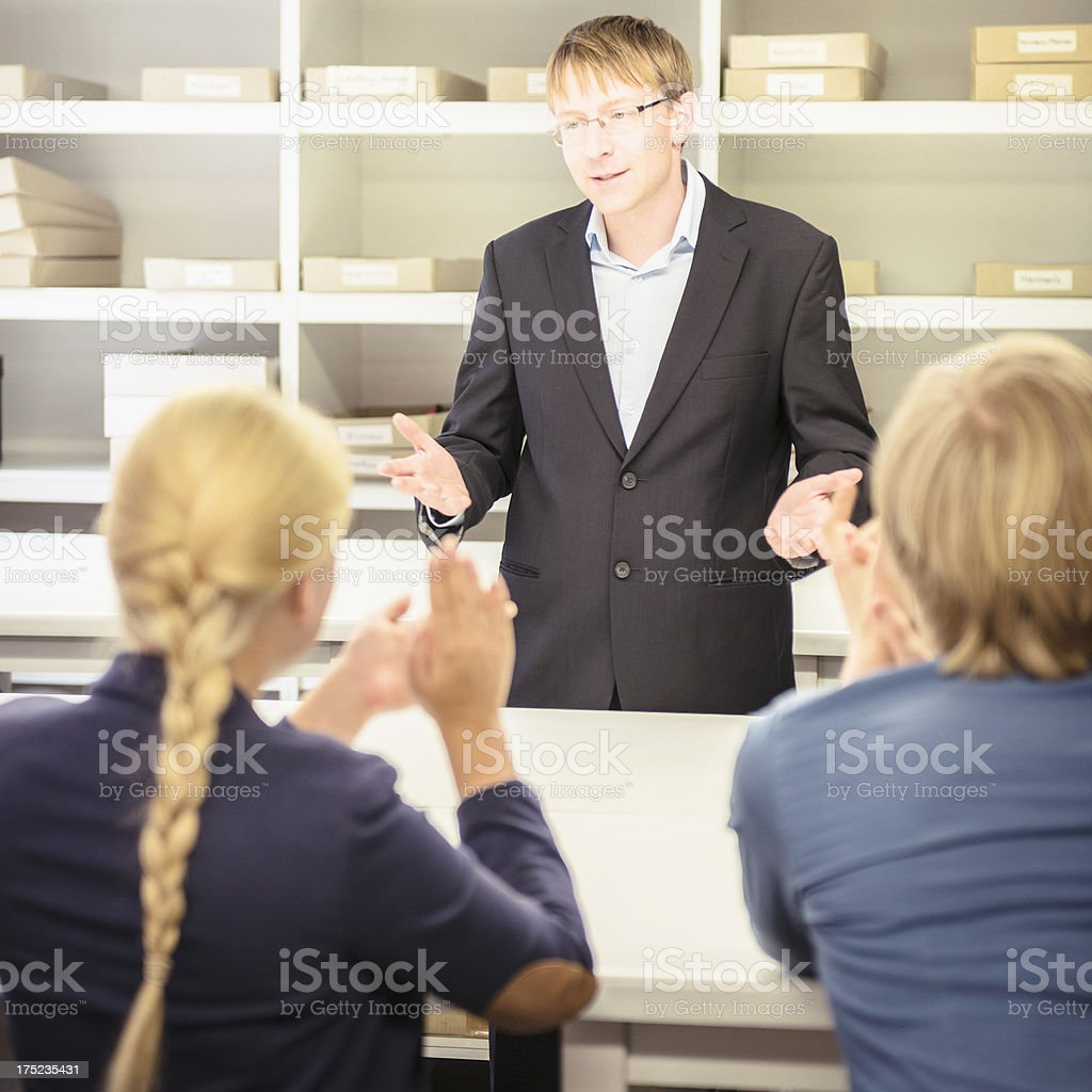 Business person at the meeting inside industry royalty-free stock photo