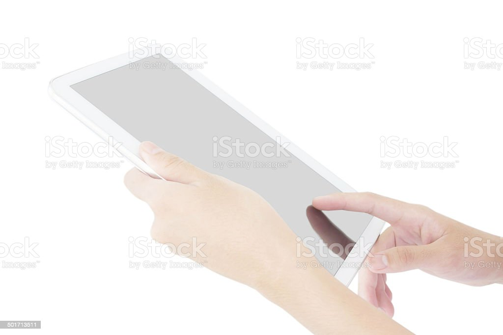 Business Person Using A Digital Tablet stock photo