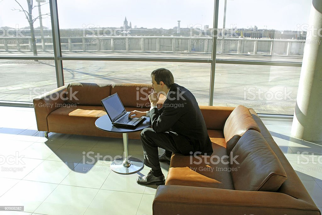 business person with laptop. royalty-free stock photo