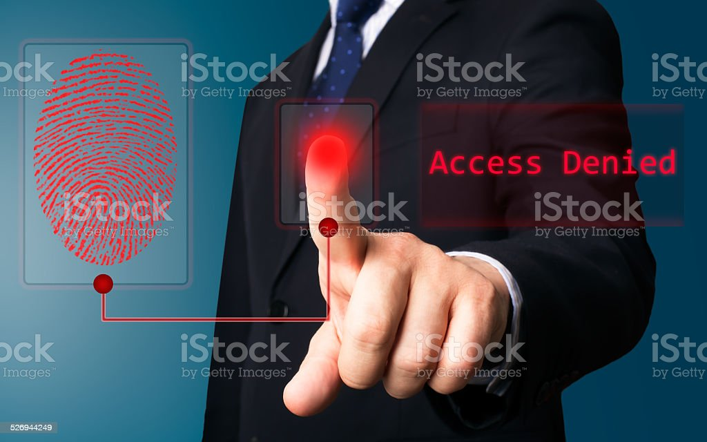 Business person working with screen stock photo