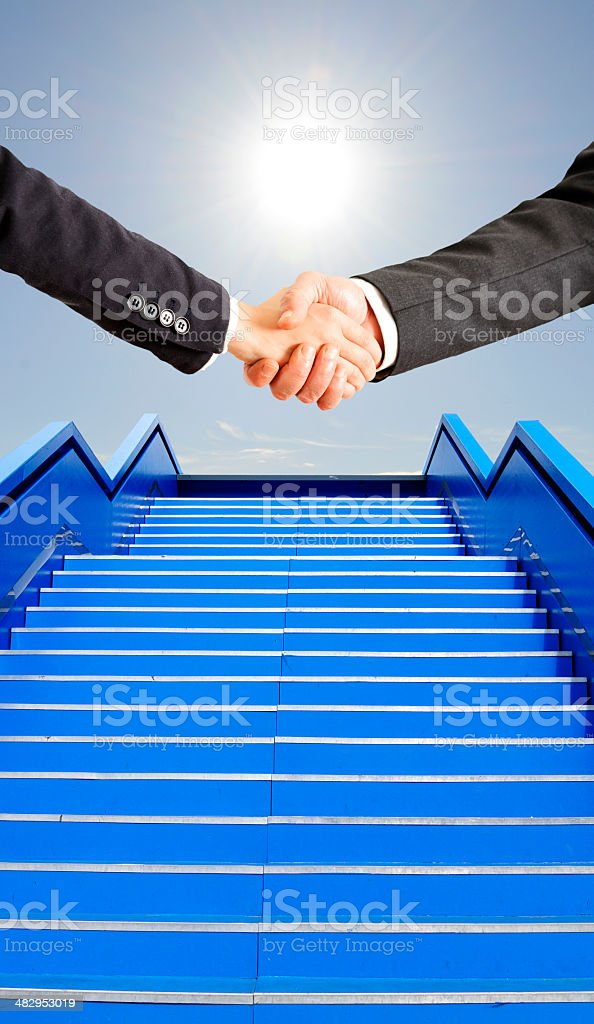Business persons Handshake royalty-free stock photo